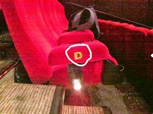 bangku baris nomor bioskop